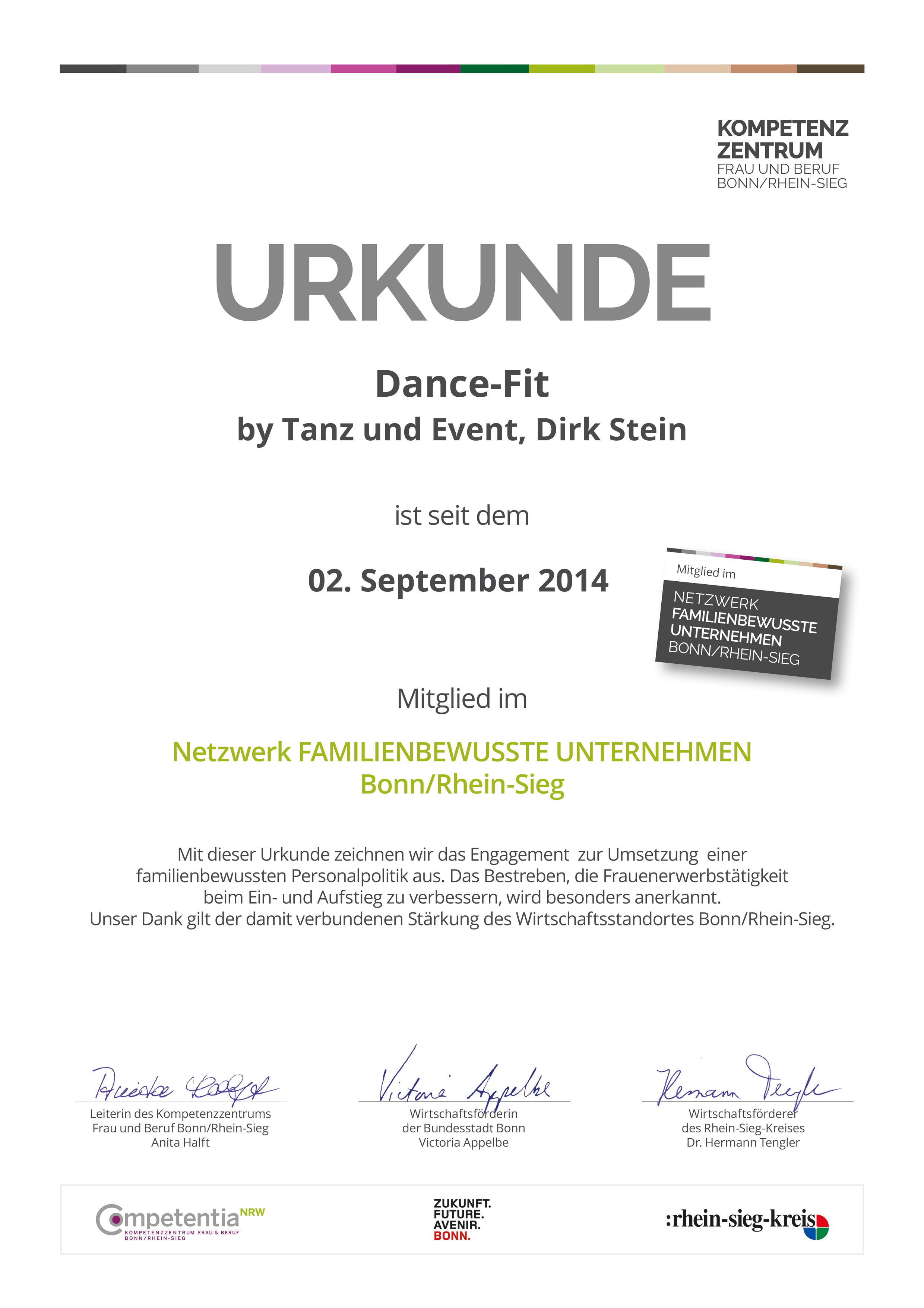 Dance-Fit Urkunde