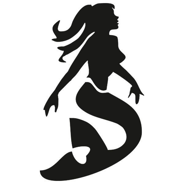Eulenspiegel Selbstklebe-Schablone Meerjungfrau