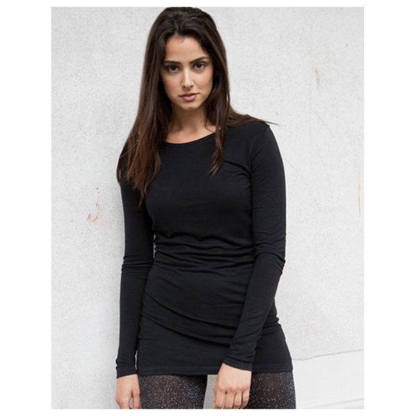 Skinnifit Long Sleeved Slinky T - SALE schwarz M